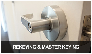 Image of a commercial door handle with lock