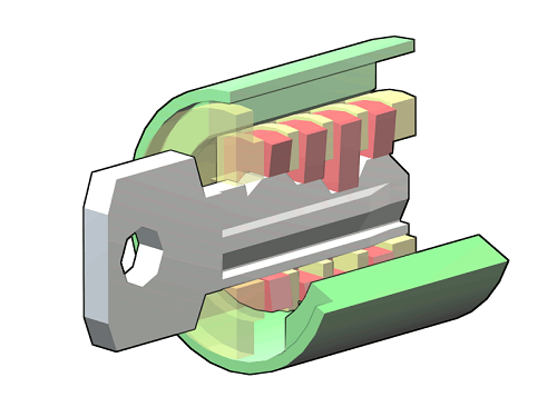 Rekeying simply means adjusting the tumblers in an existing lock so that only your new keys can open it.